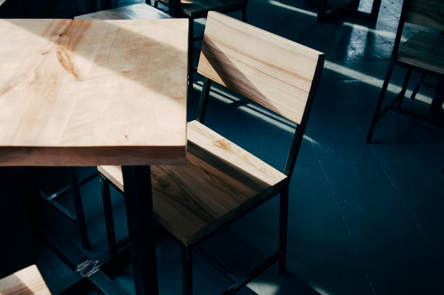 madera, silla, mesa, bar, restaurant, living, interior, nadie,