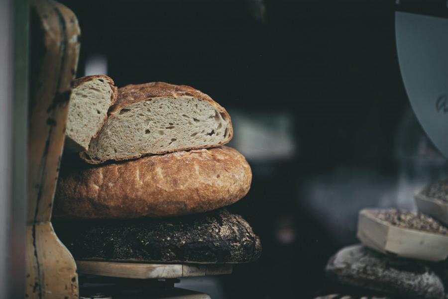 pan, casero, comida, primer plano, panes,