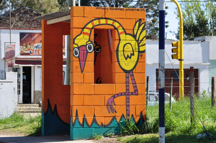 Parada, Bus, Colectivo, Transporte, Dia, Tandil, Colorido, Buenos Aires, Argentina, Dibujo,
