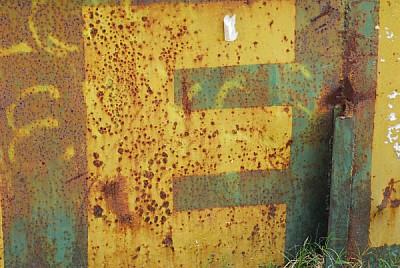 vista de frente,oxido,oxidado,letra,letras,metal,