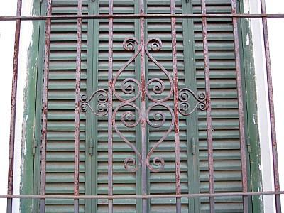 reja,ventana,hierro,metal,vista de frente,cortina,