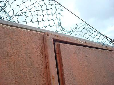 oxido,oxidado,metal,primer plano,vista de abajo,al