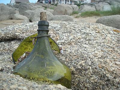 costa,concepto,conceptos,botella,mensaje,verde,vid