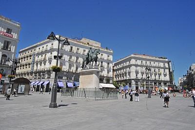 ,españa,europa,plaza,monumento,gente,grupo de per