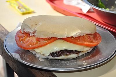 sandwich, plato, de cerca, comestible, tomates, qu