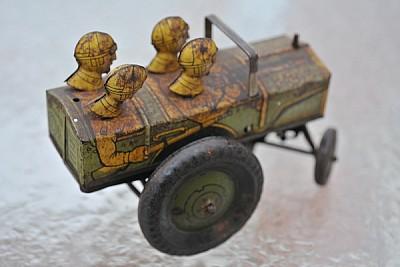 juguete, auto, miniatura, aniguo, reliquia, vidrio