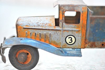 juguete, camion, miniatura, aniguo, reliquia, vidr