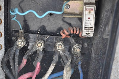 conexion, cables, electricidad, interruptor, sucio