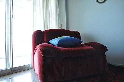 interior, diseño, luz, de dia, sillon, almohadon,