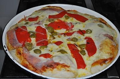 interior, cocina domestica, pizza, casera, al mold