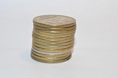 dinero, monedas, vuelto, peso argentino, bronce, f