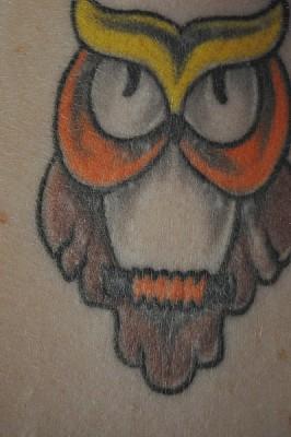 tatuaje, tinta, piel, diseño, cultura, color, buho