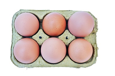 imágenes gratis Huevera con 6 Huevos Colorados