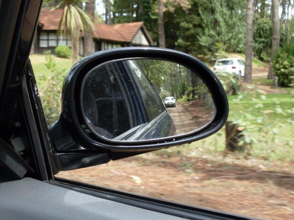 Imagen de auto coche carro espejo retrovisor reflejo Espejo para carro bebe