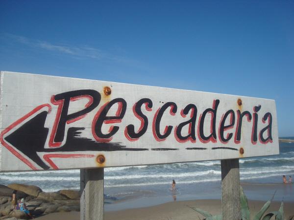 cartel,carteles,informacion,pescaderia,letra,letras,playa,vista de frente,uruguay,nadie,madera,color,colores,,prod05